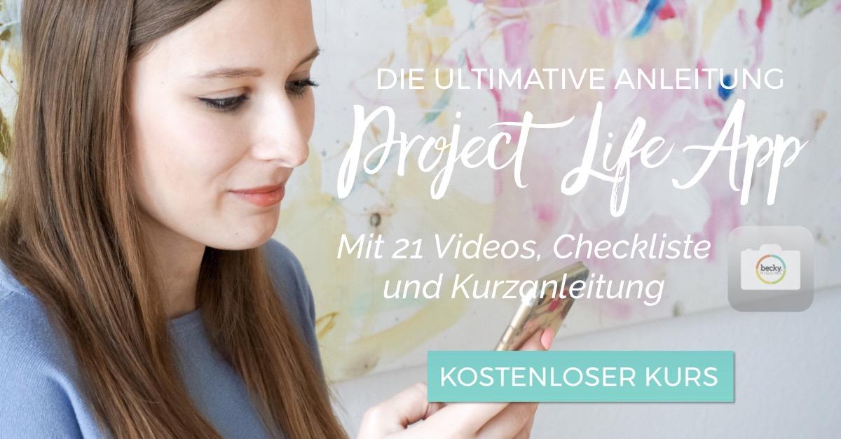 TBR kostenloser Kurs zur Project Life App