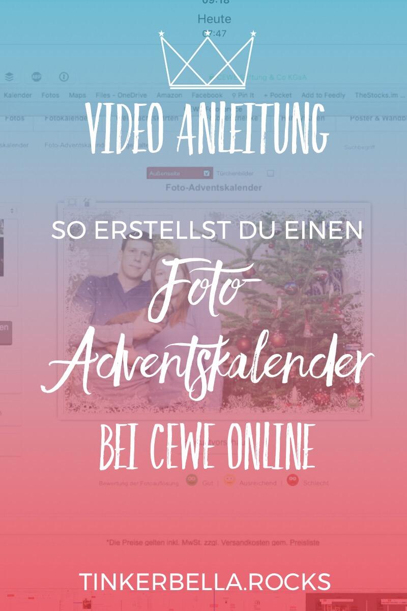 Video Anleitung Foto-Adventskalender bei CEWE Online