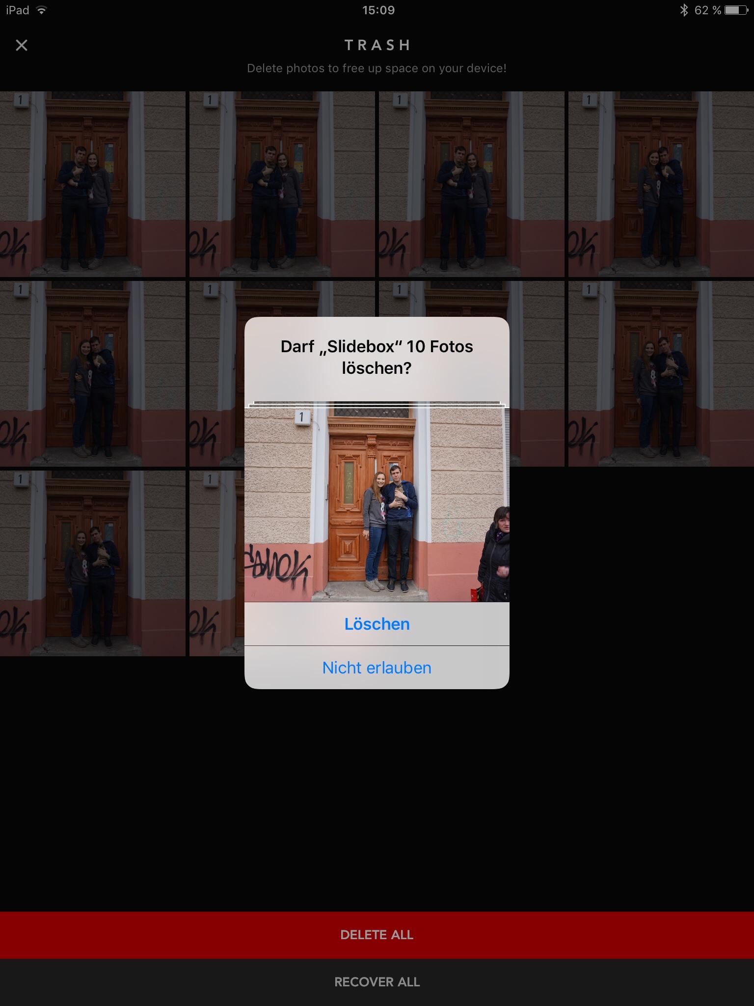 Slidebox App Löschen