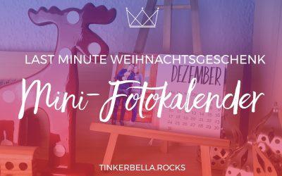 Last Minute Weihnachtsgeschenk: Mini-Fotokalender inkl. Kalender Templates 2018