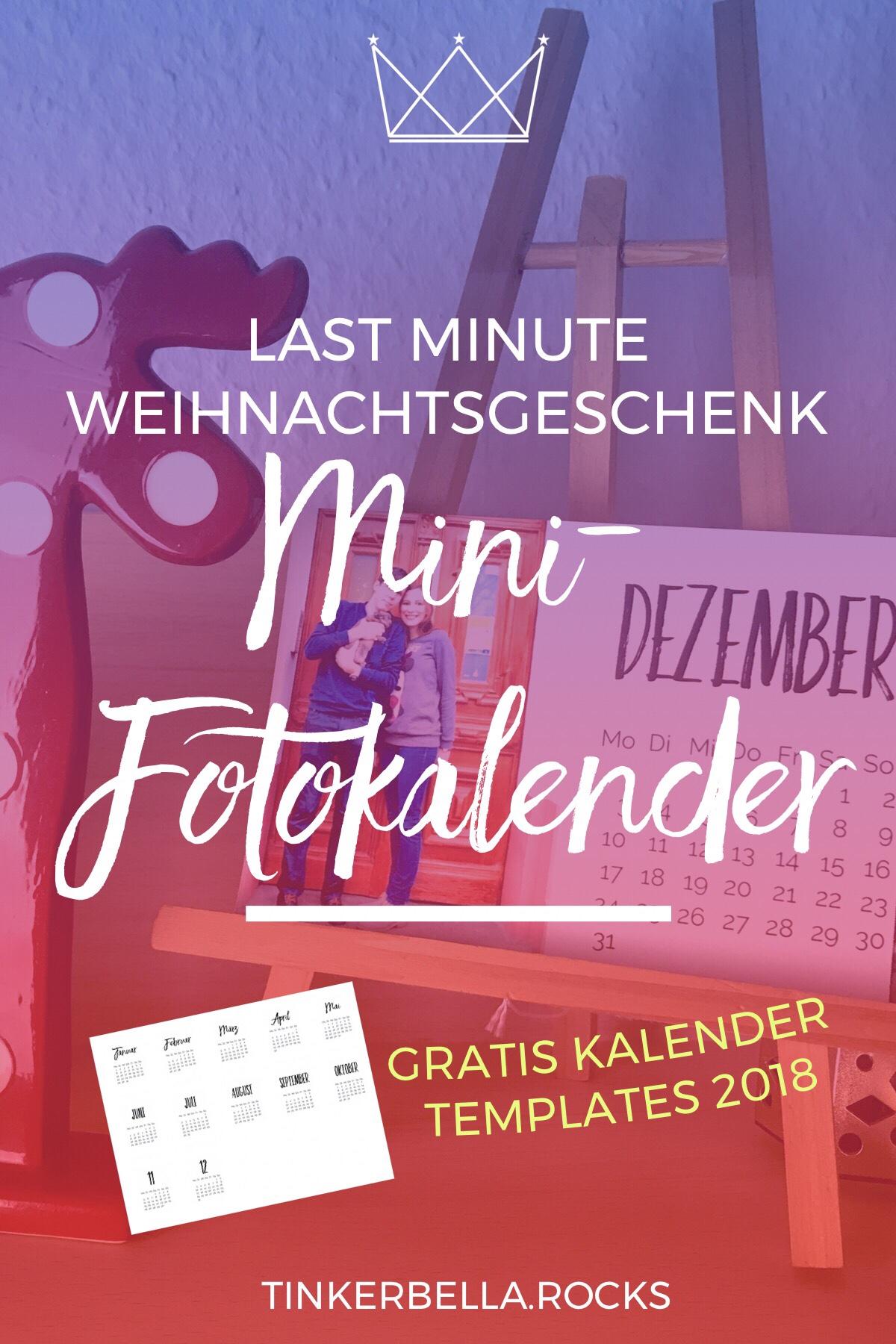 Last Minute Weihnachtsgeschenk: Mini-Fotokalender inkl. Gratis Kalender Templates 2018