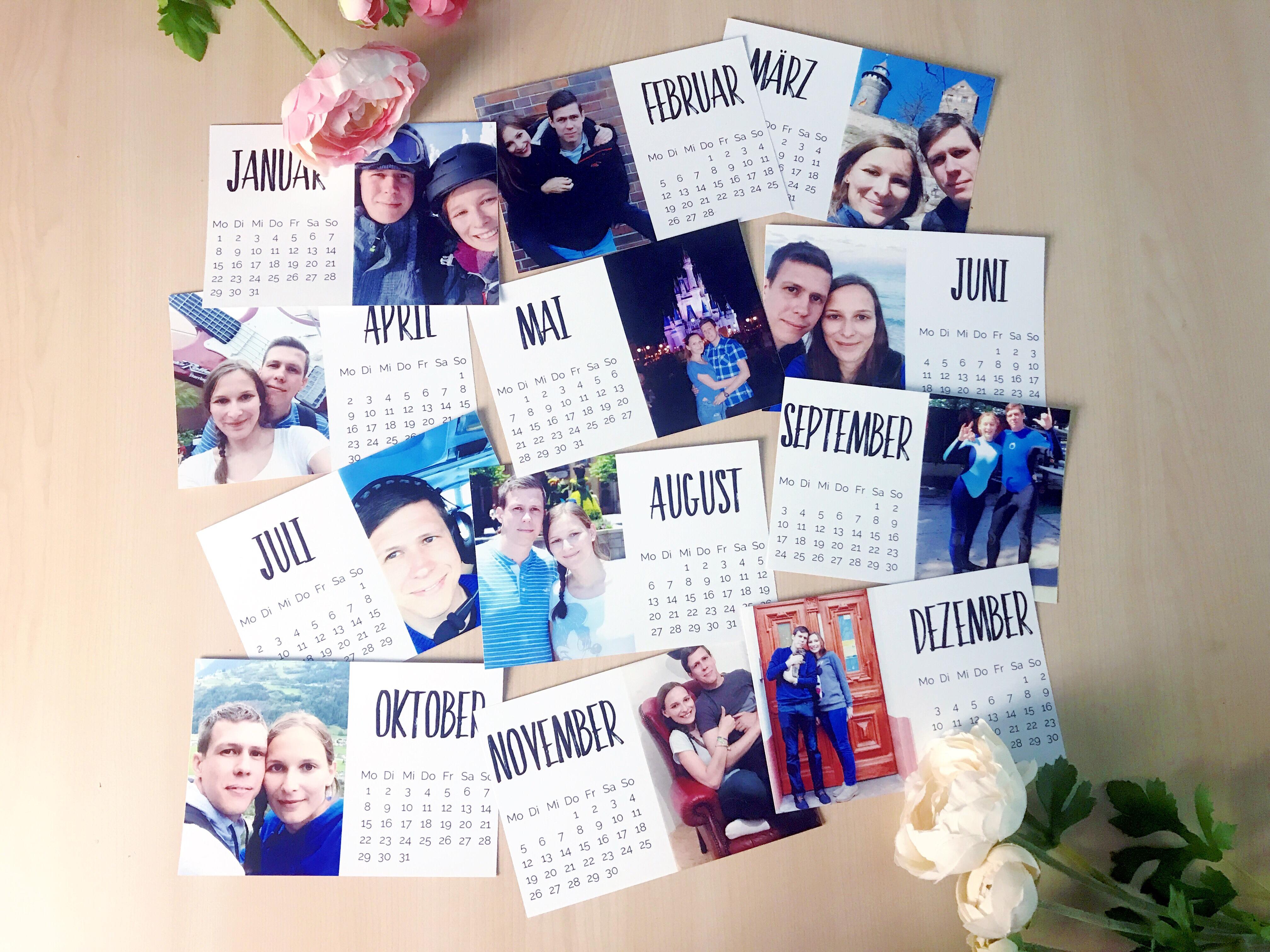 Mini Fotokalender Übersicht