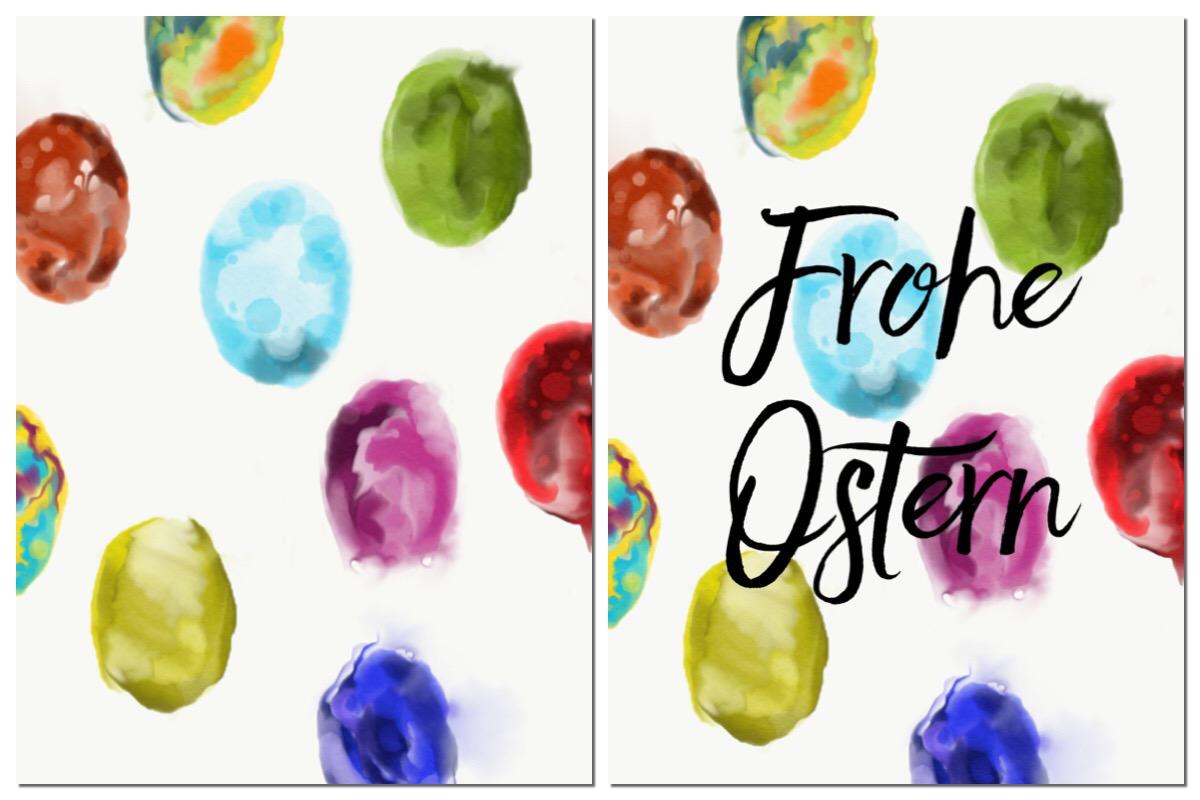 Watercolor Ostereier Collage von TinkerBella.Rocks