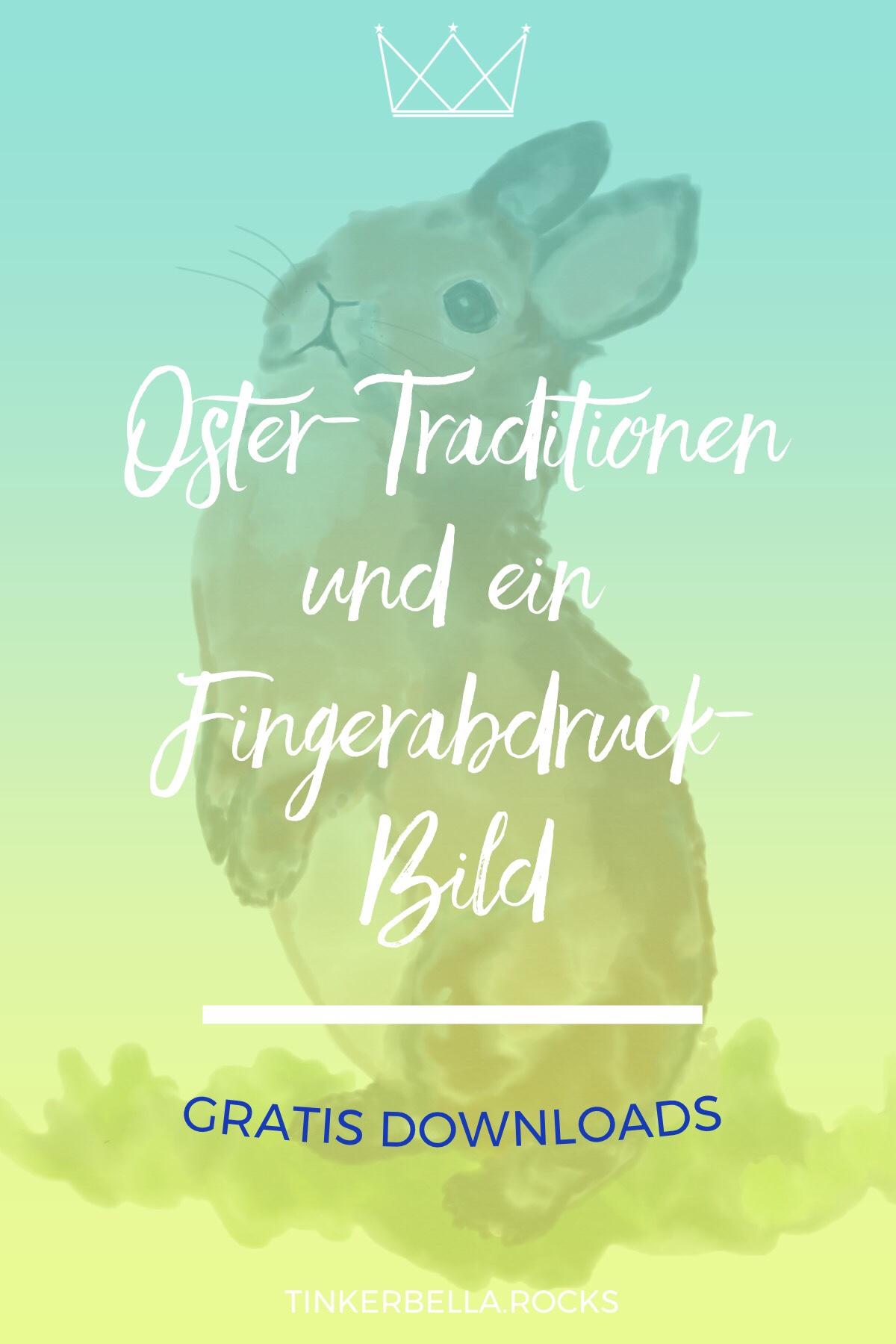 Oster-Traditionen und ein Fingerabdruck-Bild BlogPost Pin
